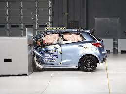 small mazda car 2013 mazda 2 driver side small overlap iihs crash test youtube