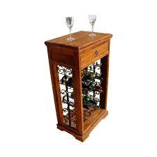 pioneer rustic reclaimed wood u0026 iron wine rack end table