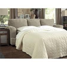 Leather Sleeper Sofa Queen by Ashley Barrish Queen Faux Leather Sleeper Sofa In Sisal Walmart Com