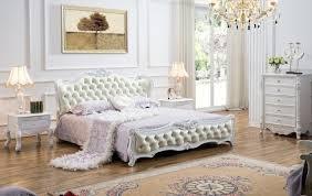 chambre haut de gamme haut de gamme en bois massif et meubles de chambre à coucher en cuir