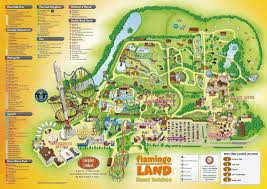 National Zoo Map Flamingo Land Penny Press Map
