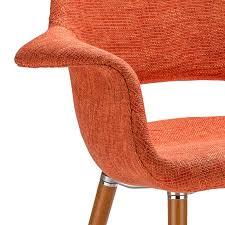 Orange Armchair Eames U0026 Saarinen Style Orange Organic Designer Armchair With