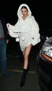 jenner sweater kendall jenner went clubbing in a crocheted sweater