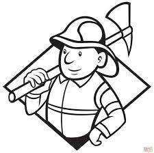 coloring pages fireman sam elvis fire fighter free firefighter