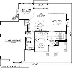 craftsman style house plan 4 beds 4 baths 3053 sq ft plan 70