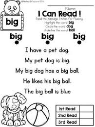simple stories made of sight words and cvc words that kids can