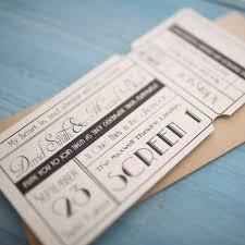 unique cinema ticket wedding invitation with wallet vintage