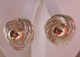 post type earrings brams sterling silver 925 14k knot post type earrings