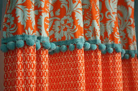 Orange And Blue Curtains Mesmerizing Orange And Blue Shower Curtain Gallery Best Ideas