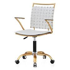 office chair in white amazon com meelano 356 gd whi office chair white gold kitchen within