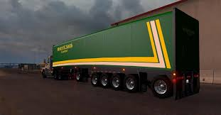 mac curtain multiaxles trailer american truck simulator mod