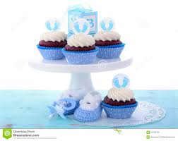its a boy blue baby shower cupcakes stock photo image 57045750