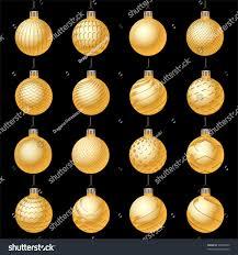set christmas balls ornaments winter holiday stock vector 90540700