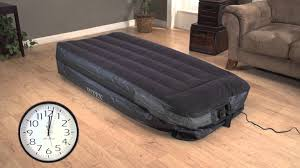 intex twin air bed mattress with built in electric pump youtube