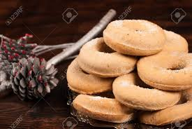 roscos de vino traditional spanish christmas bagels stock photo