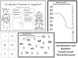 french greetings bonjour simple worksheet studio expo by