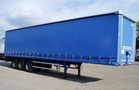 david tri axle curtainside postless trailer