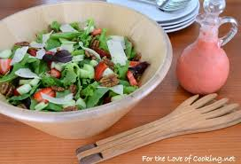 mixed greens with strawberries extra sharp white cheddar and