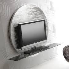 mensole sotto tv porta tv da parete rotondo miki arredaclick