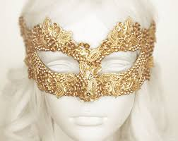 mask for masquerade gold color venetian mask with rhinestone and bead embellishments