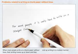 blank paper to write on laser cap creates lined paper effect to help you witing in a