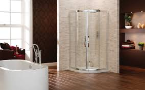 superb bathtub shower designs with corner glass shower enclosure superb bathtub shower designs with corner glass shower enclosure attached in mosaic tiles also wooden plank flooring featuring wooden shelves combined