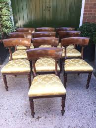 William Iv Dining Chairs Superb Set Of 10 C19th William Iv Period Mahogany Dining Chairs