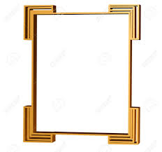 clean lines of an art deco frame in 3d stock photo picture and