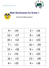 math worksheets addition and subtraction very easy to print kids