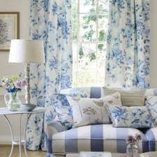 Blue And White Floral Curtains Floral Blue Country Curtains In Living Room Beautify Your