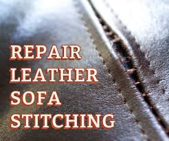 Leather Sofa Rip Repair Kit by Repair Leather Sofa Stitching 3 Steps With Pictures