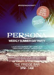 ra persona weekly summer day party week 1 at the fridge bar