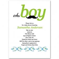 baby boy sayings tie baby boy shower invitations bs129