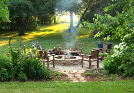 photo cool garden patio table and chairs fire pit diy rustic