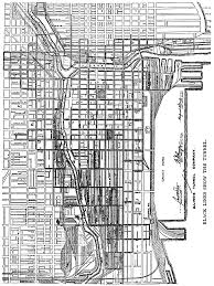 Map Chicago Chicago Underground Tunnels Map Chicago Map