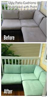 ugly patio cushions reved with paint painting fabric furniture