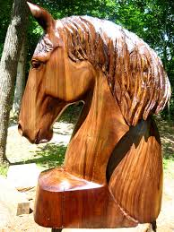 large wood sculpture with arc in walnut wood sleepy hollow