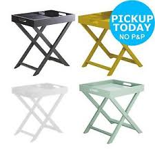 Small Occasional Table Habitat Oken Small Occasional Table Choice Of Black White Yellow