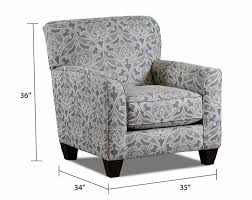 Gray Accent Chair Printed Chair In Gray And White Splendor Gray Accent Chair