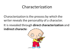 Characterization Characterization Characterization Is The Process By Which The