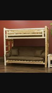 Futon Bunk Bed Plans by Twin Over Twin Log Bunk Bed My Boys Would Love This Bed Bunk