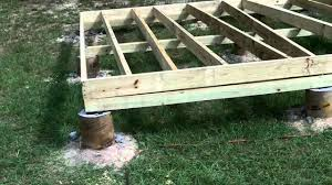 house plans on piers and beams diy shed part 2 floor youtube