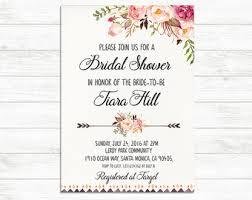 printable bridal shower invitations bridal shower invite etsy