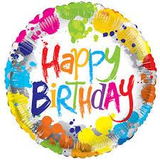 birthday balloons bulk tie dye happy birthday foil balloons 18 in at dollartree
