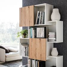 Wall Bookcases With Doors Bookshelf Astonishing Modern Bookcase With Doors Wooden Bookcases