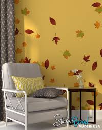 Easy Apply Wallpaper by Amazon Com Autumn Leaves Falling Wall Decal Stickers Fall