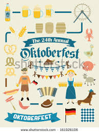 Oktoberfest Decorations Oktoberfest Retro Creation Kit Beer Mugs Stock Vector 161973581