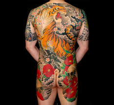 tiger back 老虎 ta t japanese and