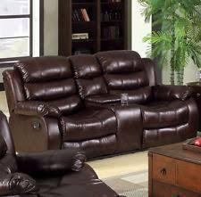 Microfiber Reclining Loveseat With Console Reclining Loveseat Ebay