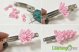 hair barrettes how to make a pink ribbon flower hair barrette for